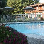 Relax by our beautiful sparkling heated pool.
