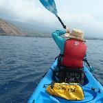 Mom, lead paddler Kealakekua Bay