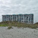 Right on the beach