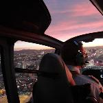 Over the Strip at sunset