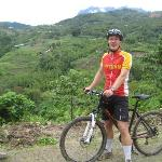 me in front of beautiful Borneo landscape view