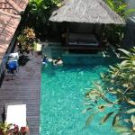 The pool from the upstairs bedrooms