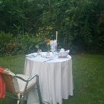 Have a meal in the garden