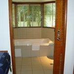 vasca da bagno vista foresta pluviale