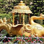 Lord Krishna's Golden Chariot at Madhuban