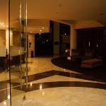 lobby at night