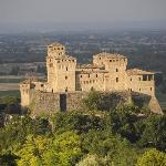 View of Torrechiara castle