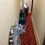 tools left by the workmen in the corridor outside our room