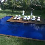 Vista da piscina aquecida