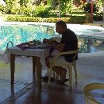 Jürgen beim Frühstück