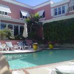 Pool-side.