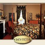 Basin Street room, queen bed with luxury spa bedding, private bath with spa shower with body jet