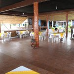 large deck for dining, dancing, parties, karaoke!!!