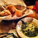 awesome fresh bread with dipping oil.