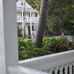 vue du balcon du Heron House