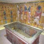 Inside the famous tomb (the sarcophagus is a replica)