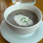 Mushroom soup with thyme, simply delicious