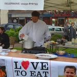 Demonstrating on behalf of Love To Eat in the Wellmeadow, Blairgowrie