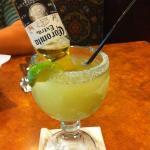 Cerveza Rita - Small corona upside-down in a frozen margarita!  SO TASTY!