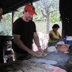 my boyfriend making his first corn tortilla