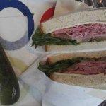 Good deli sandwich and pickle