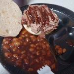Beef brisket and beans