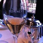 Champagne at breakfast