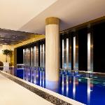 Take a dip in the glass bottomed pool