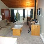 View of main living space from entry hall.  Room 206.
