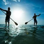 Stand-up Paddleboarding is a fun way to keep in shape.