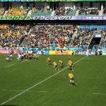 On field action during the Rugby World Cup