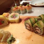 Mango roll, Tuna Kara-age and Cupcake rolls