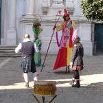 Performers in front of Chiesa San Rocco
