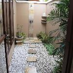 Bedroom 1 outdoor shower