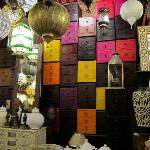 FRom the store, lanterns and leather drawers