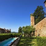 la piscina nel giardino all'italiana