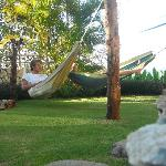 chilling out in the hammocks