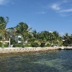 view of Tres Cocos from the dock