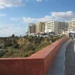 Hotel row in Praia da Rocha