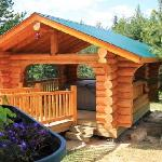Log Hot Tub Gazebo