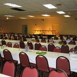 Ballroom set up for dinner