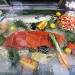 Fresh Salmon fillet in our market.