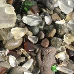 Glass on Beach-closeup
