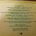 standard tasting menu