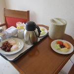 Order room service for breakfast so you don't have to go to the mess hall!