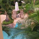 Our private pool. Our butlers set this up for us each day with fresh towels and our drink prefer