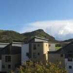 view from room to Arthur's Seat