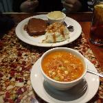 Brunswick Stew and Meatload with Mashed Potatoes and Apple Sauce