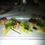 Foie gras stemmed mushroom - delish!