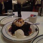 Chocolate Caramel Cake w/Ice Cream